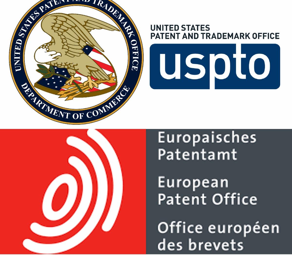 USPTO EPO logos