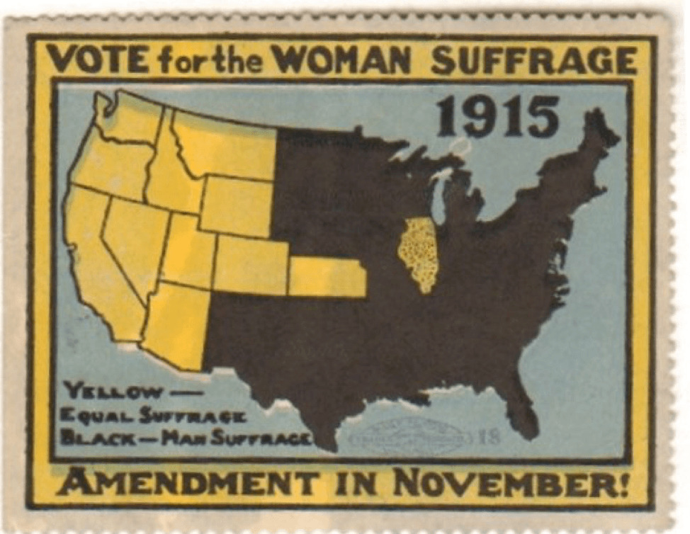 suffrage map 1915