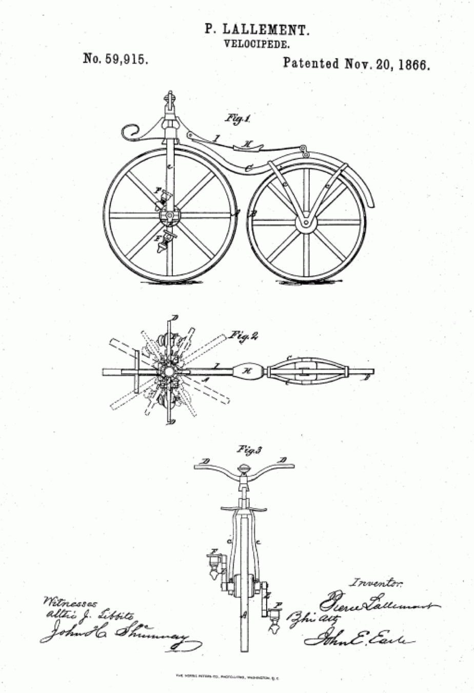 1866 bicycle patent