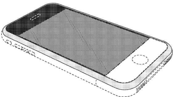 patent drawing for iPhone design