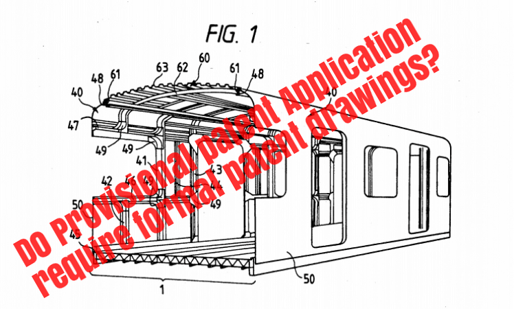 Do provisional patent application require patent drawings