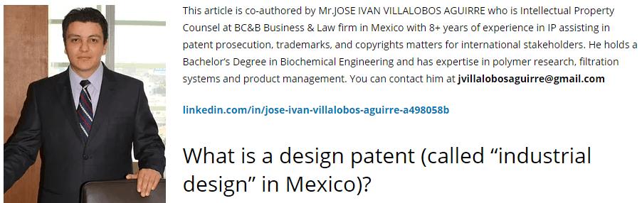Mexico Design patent cost