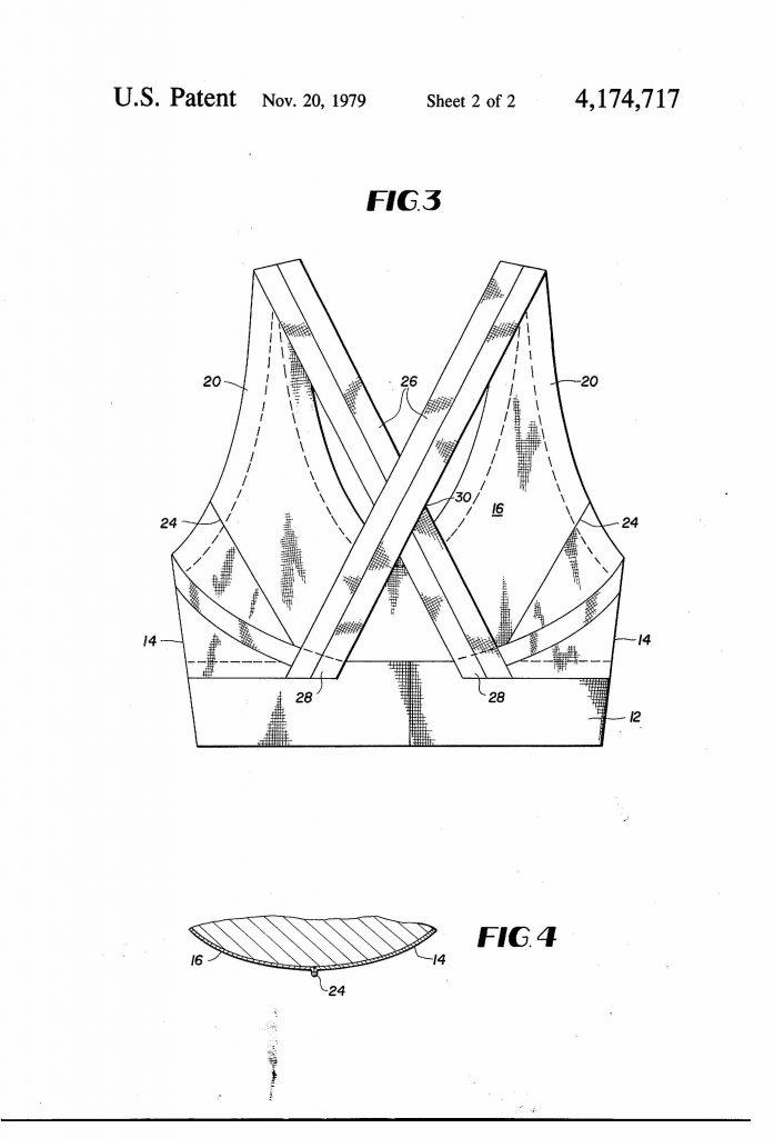 Patent drawings of sports bra