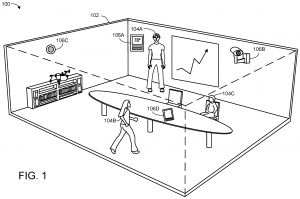 meeting room with sensors