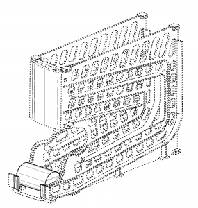 drawing of soup dispenser